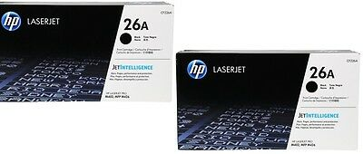 HP CF226A 26A Dual Pack GENUINE Toner Cartridge NEW