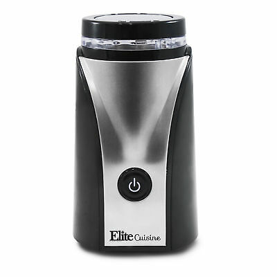 MaxiMatic Elite Cuisine Electric Nut Spice Herb Coffee Grinder, Stainless Steel