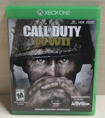 Call of Duty: WWII (Microsoft Xbox One, 2017) No Manual - Fast Free Shipping