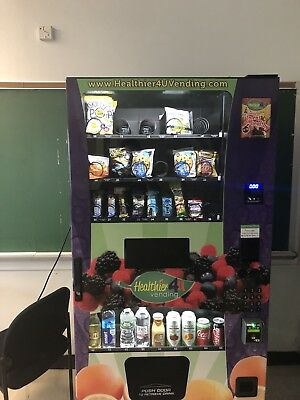 Three (3) Combination Snack/Beverage Vending Machines For Sale
