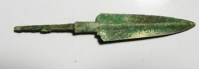 ZURQIEH -as8226-  ANCIENT PERSIA. LURISTAN BRONZE LARGE SPEAR HEAD. 1200 - 900B