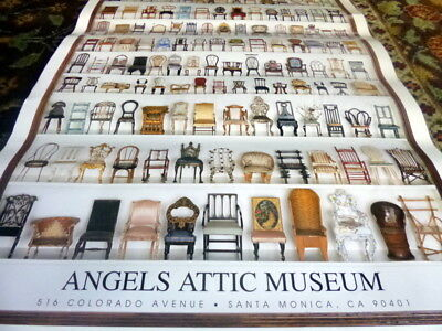 WONDERFUL Dollhouse Museum POSTER Antique Miniature Chairs From Angel's Attic