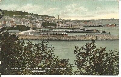 Postcard Of St. Peter Port From Fort George, Guernsey, Unposted