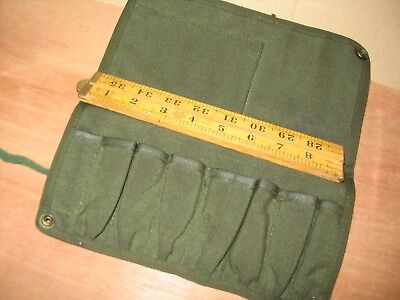 Empty Ex Military Small Tool Roll Not Issued Ideal Size Suit Bsa Triumph Crafts