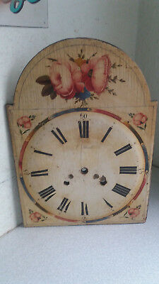 Antique Wooden  Longcase Grandfather  Clock Dial -- J March - 11 1/2 X 16 Inches