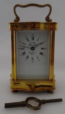 Vintage Antique Brass French L'EPEE Carriage Clock  - Working Order  (C13