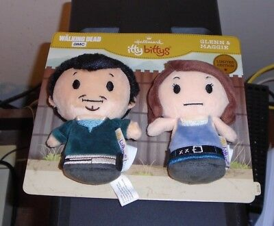 Hallmark Itty Bitty Bittys ~ Glenn & Maggie (AMC ~ The Walking Dead) 2018 NWT