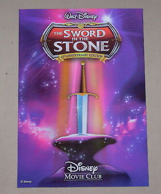 Disney Movie Club 3D Lenticular Card The Sword in the Stone RARE collector's