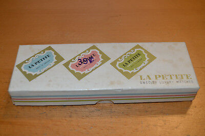 "FULL BOX OF 16 PACKS LA PETITE ""Swedish Luxury Matches"" NEW UNUSED CONDITION"