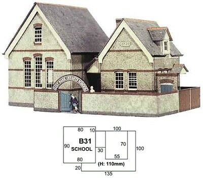Super Quick SQB31 Model Railway Kits OO HO Gauge Scale - The Village School