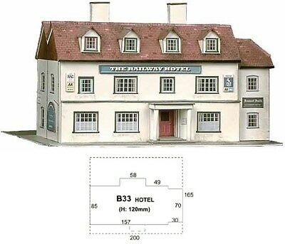 Super Quick SQB33 Model Railway Kits OO HO Gauge Scale - Railway Hotel
