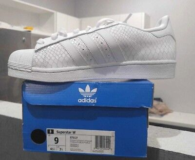 New Adidas Originals Superstar Shoes S75127 Women's White Sneakers Multi Size 9