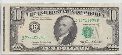 $10 Major Misaligned Cutting Error 1985 Federal Reserve Note Uncirculated