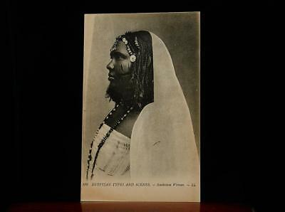 SCARIFICATION SUDAN  EGYPTIAN TYPES AND SCENES  SOUDANESE WOMAN  1910s  TATTOO