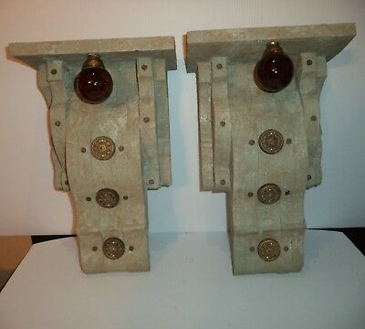 Unique PAIR Extra Large wood Handmade Corbels ~ brackets designs*by*me originals