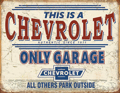 Tin Signs Chevy Only Garage 2200