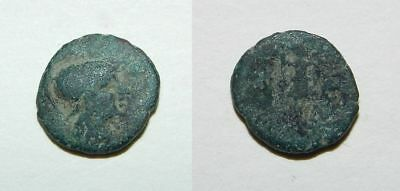 ANCIENT GREEK BRONZE COIN  14mm