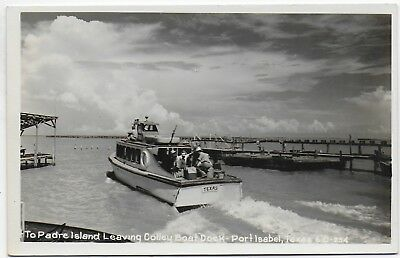 (#2970) Old RPPC Fishing Boat TEXAS  Leaving Colley Boat Dock  Port Isabel Texas
