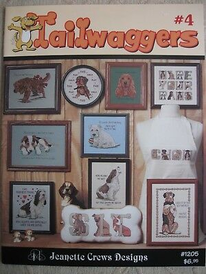 TAILWAGGERS no:4 Dog - Puppy 10 design counted cross stitch pattern booklet