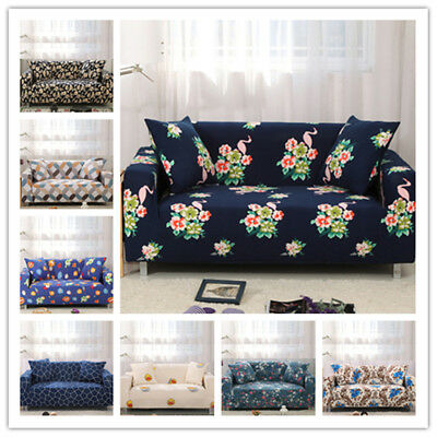 Print 1/2/3/4 Seat Sofa Covers Elastic Protection Couch Cover Slipcover Decor