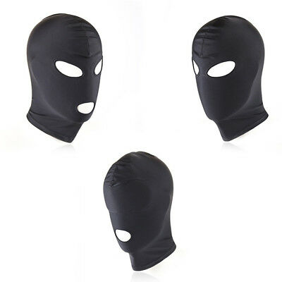 Sex Restraint Head Hood Eye Mask Gear Leather Roleplay Half Face Dungeon Cosplay