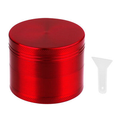 4 Piece Magnetic 2 Inch Red Tobacco Herb Grinder Spice zinc alloy With scraper