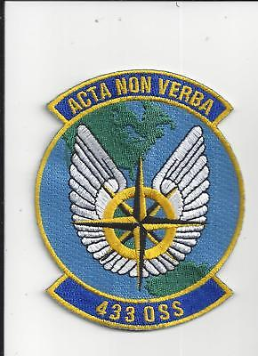 PATCH USAF 433rd  0PERATIONS SUPPORT SQ OSS