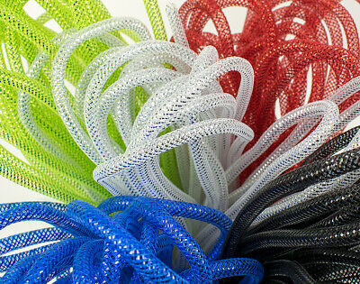 Metallic 8mm x 9m Deco Mesh Tubing for Wreath Making & Floristry