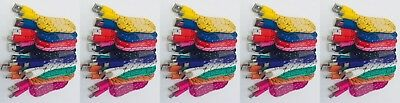 Lot 50x 3ft Mix Colors Braided Universal Micro USB Data Sync Charger Cable Cord