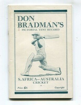 Don Bradman's Pictorial Test Record  South Africa - Australia  C 1931