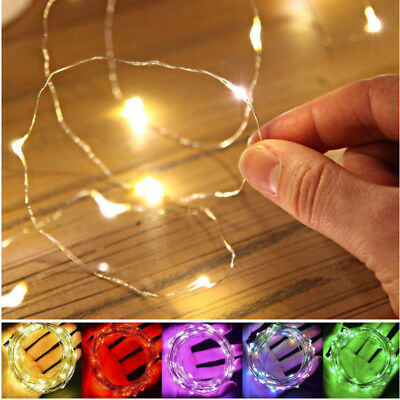 10/20/30/50/100 Led Micro Wire String Fairy Party Xmas Wedding Christmas Light