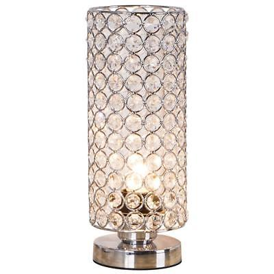 Crystal Table Lamp Nightstand Decorative Living Room Desk Lamp Bedroom Kitchen