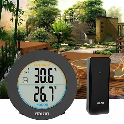 Indoor Outdoor Wireless Thermometer Hygrometer C/F Digital Temperature Monitor