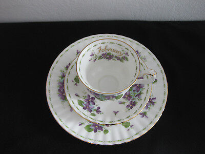 Royal Albert Flower of the Month Sammelgedeck 3 teilig Febuary