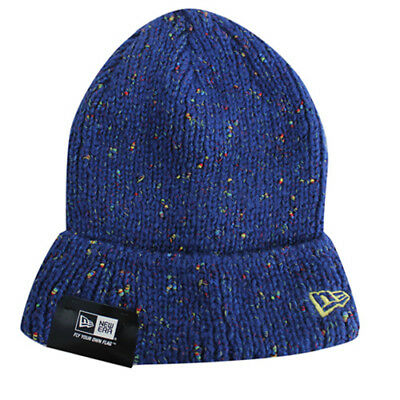 New Era Mens Womens Unisex Flecked Out Light Navy Beanie 10830553 UW