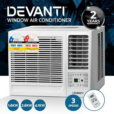 Devanti 1.6kW/2.6kW/4.1kW Window Wall Box Refrigerated Air Conditioner Cooler