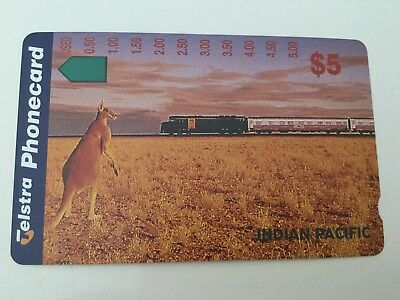 $5 Indian pacific Telstra Phonecard Mint condition