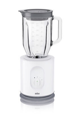 Braun Standmixer JB 5050 weiß Identity Collection 900 Watt 1,6 L Thermoglas