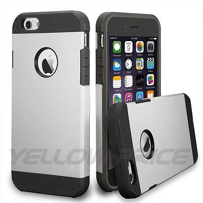 Luxury Shockproof PC TPU HardSoft Case Dual Silver For iPhone 5 5S 5G Silver