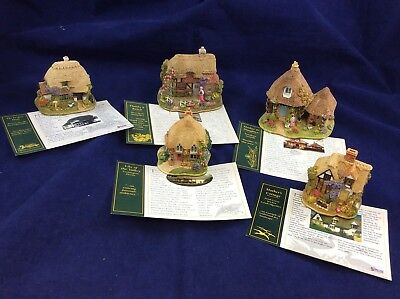 Lilliput Lane Bundle Of 5 Miniature Cottages w Deeds Mother / Mum Related