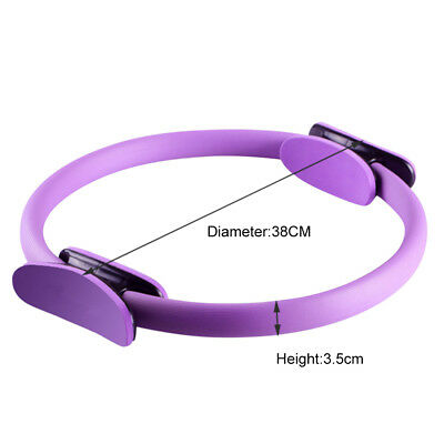 """16"""" Deluxe Pilates/Yoga Resistance Ring Gymnastic/Aerobic/Gym Fitness Circle"""
