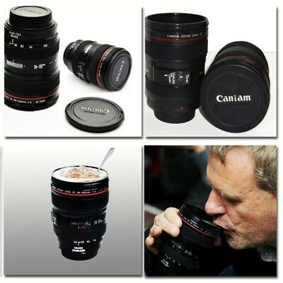 Stainless Steel Camera Lens Cup Travel Coffee Mug Mixer Fanny