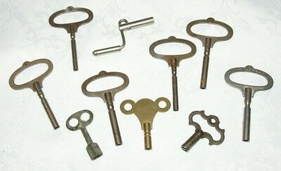 Collection Of  Antique/Vintage Longcase, Wall, Mantel Clock Keys/Winders