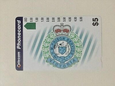 $5 telecom Victorian prison service Phonecard Mint Condition