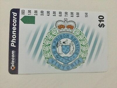 $10 telecom Victorian prison service Phonecard Mint Condition