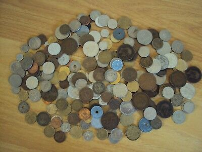 A Large Job Lot of Vintage British And World Coins