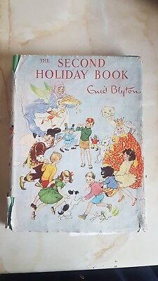 ENID BLYTON THE SECOND HOLIDAY BOOK VINTAGE HARDBACK FIRST 1ST EDITION 1947 rare