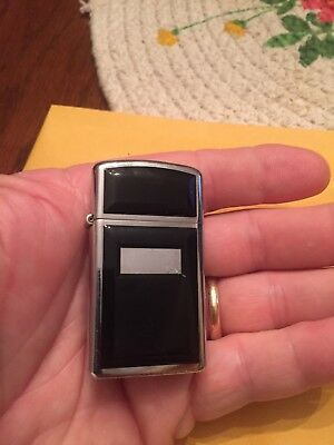 Vintage 1978 Slim Black Onyx Zippo Lighter Excellent Condition