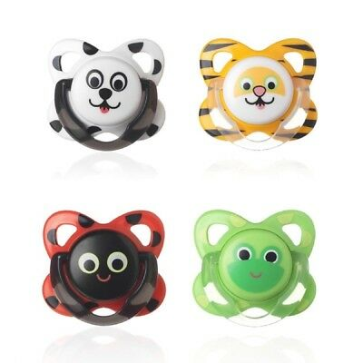 Tommee Tippee Latex Funky Face Soother Twin Pack: 6-12m (Choice of Design)(A135)