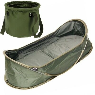 NGT Carp Cradle Pop Up Unhooking Mat and Stiff Sided Collapsible Bucket